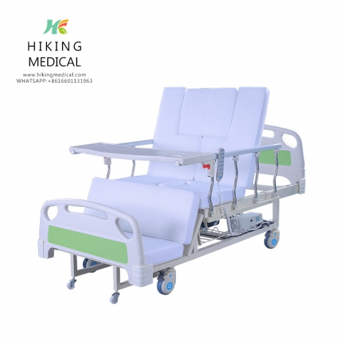 Handicap Automatic Electric Nursing Home Care Bed With Commode